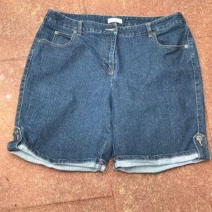 Christopher & Banks Bermuda Jean Shorts (14)